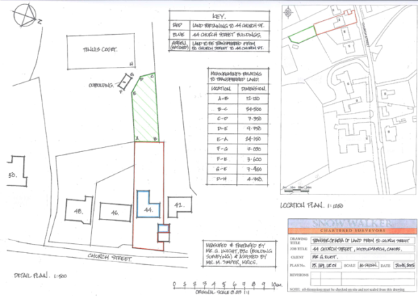 Land Registry Plan Drawing