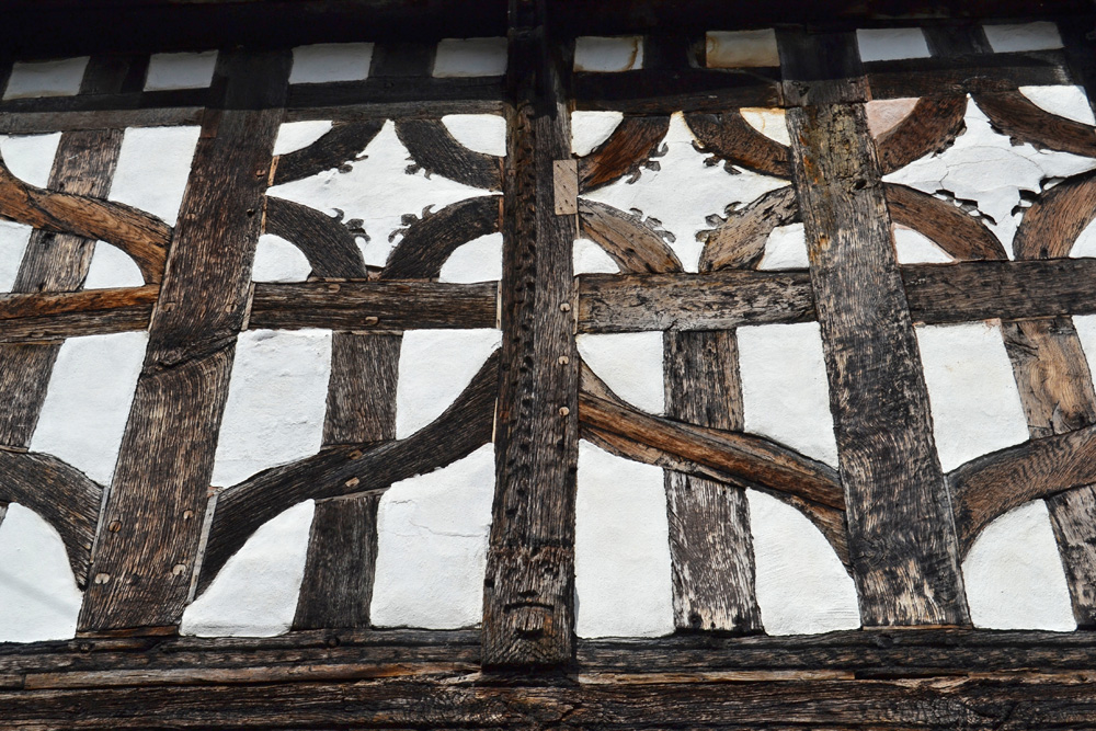 Timber-frame with plastered infill